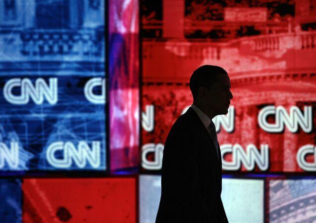 Barack Obama, CNN logo