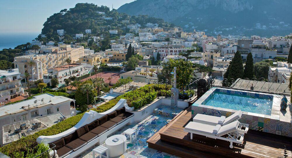L'hôtel Capri Tiberio Palace, île de Capri, Italie