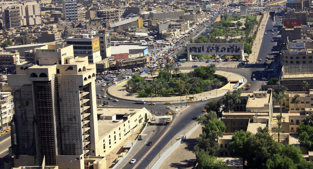 La place Tahrir à Bagdad