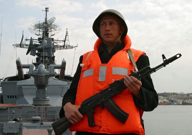 Le navire de guerre russe Smetlivy