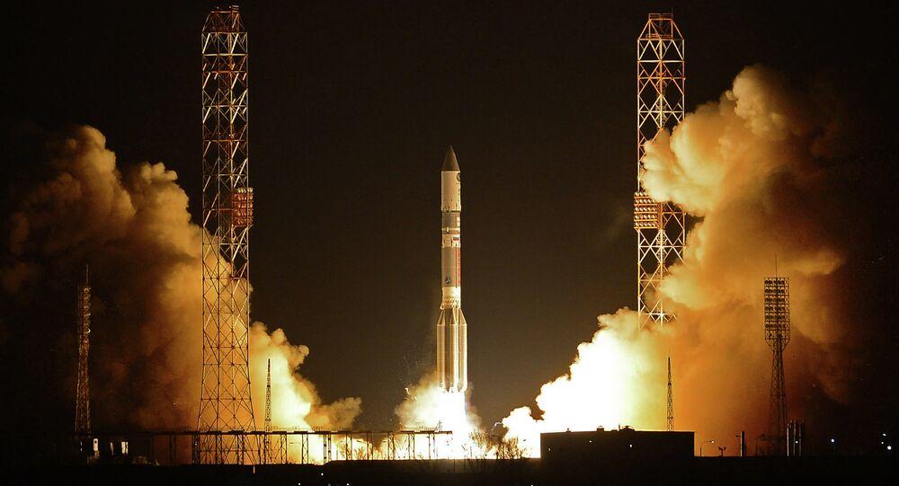 Un lanceur russe Proton-M transportant l'engin spatial militaire a décollé dimanche depuis le cosmodrome de Baïkonour, au Kazakhstan.