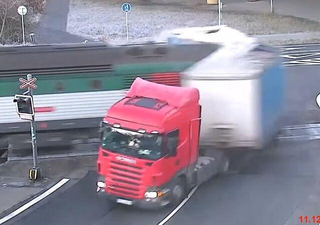 Train vs routier