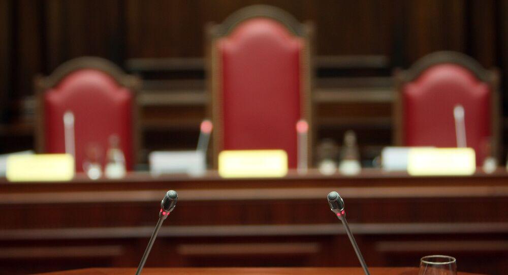 Salle d'audience de la Cour constitutionnelle