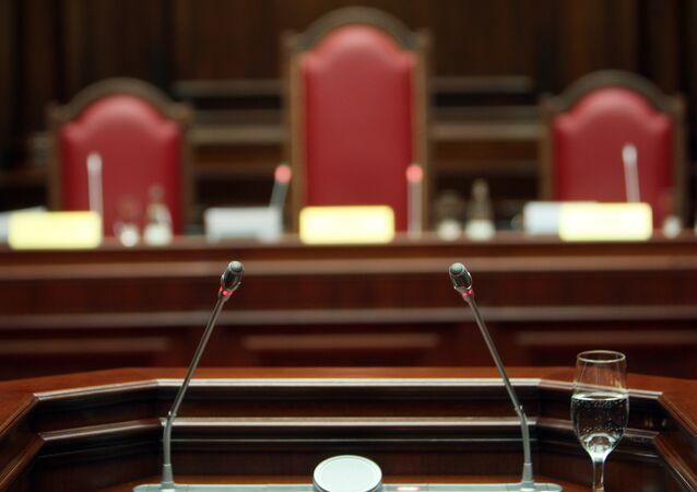 Cour constitutionnelle de la Fédération de Russie. Salle d'audience.