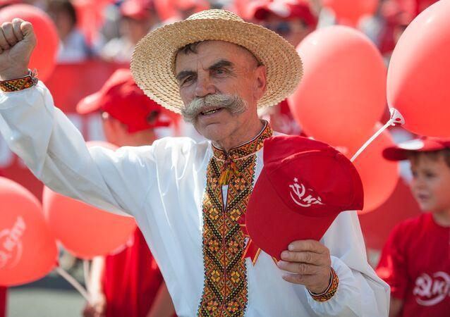 Marchze des communistes à Kiev