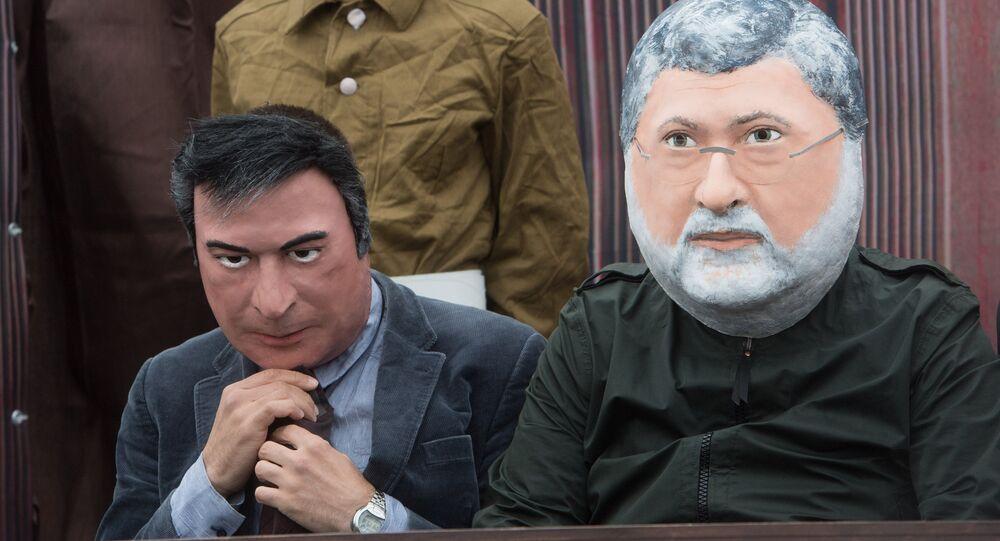 Le procès de Kolomoïski et Saakachvili sur la place de lEurope à Moscou