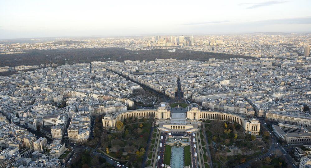 Vue de Paris. Trocadero et Bois de Boulogne