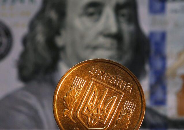 Une coupure des États-Unis et une pièce de l'Ukraine