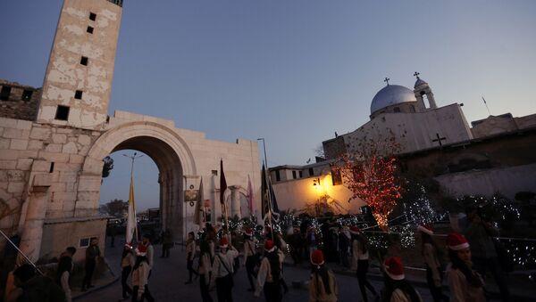 Chrétiens de Syrie célèbrent Noël, Décembre. 24, 2015. - Sputnik France