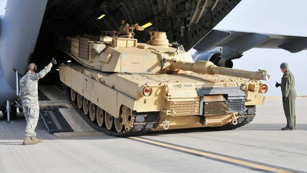 Le char américain M1 Abrams - Sputnik France