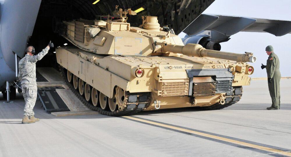 Le char américain M1 Abrams
