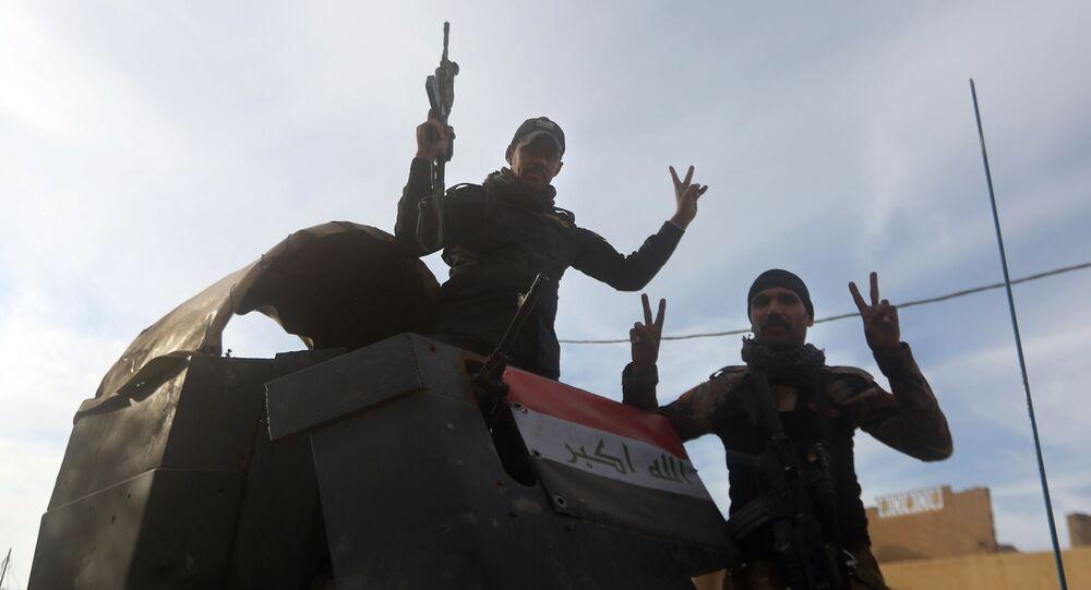 Membres des forces d'élite antiterroristes irakiennes à Ramadi