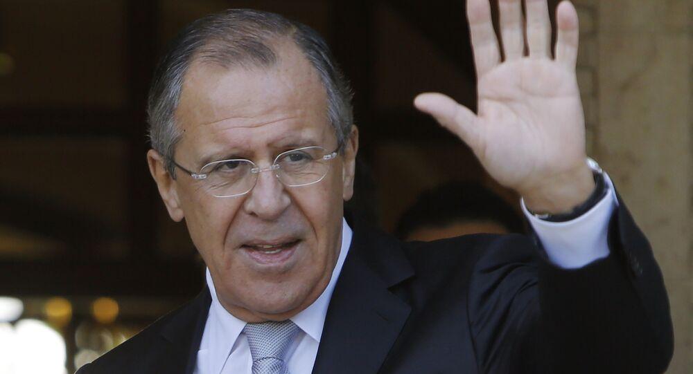 Ministre russe des Affaires étrangères Sergueï Lavrov