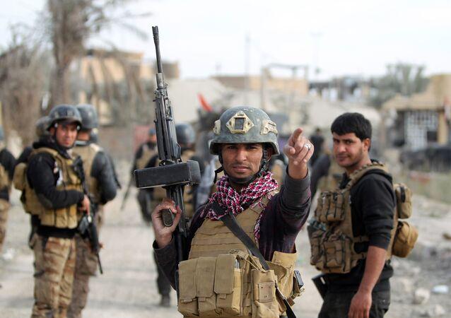 Militaires irakiens dans la ville libérée de Ramadi