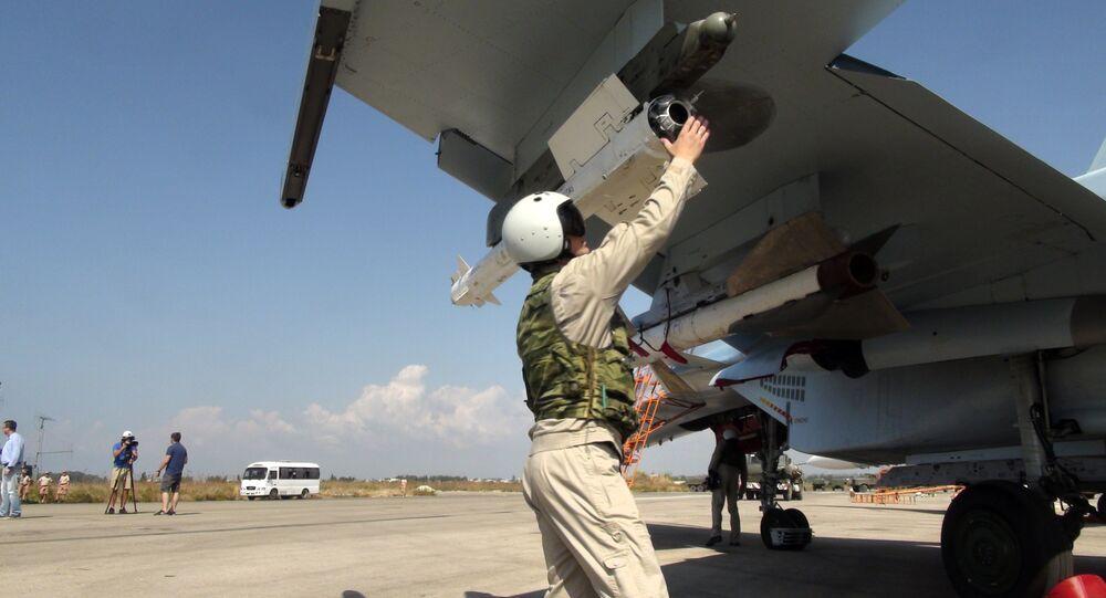 Un pilote russe  à la base de Hmeimim