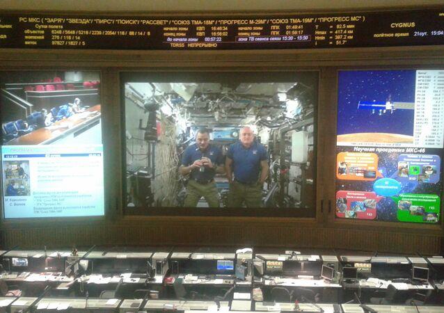 astronautes Scott Kelly et Mikhaïl Kornienko