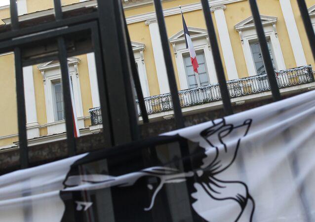 Drapeau corse à Ajaccio