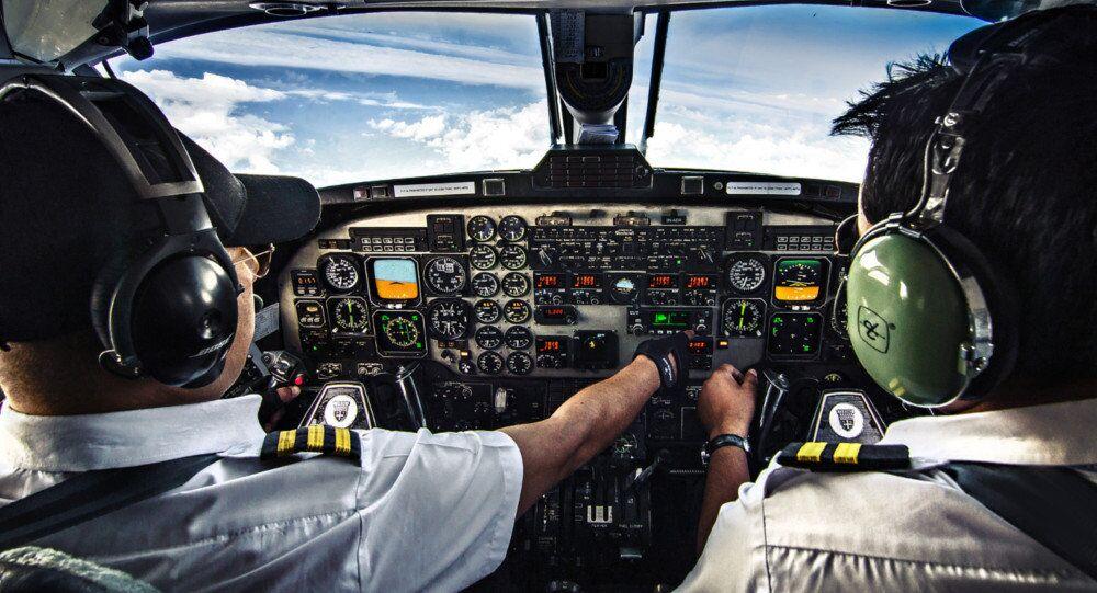 Poste de pilotage d'un avion