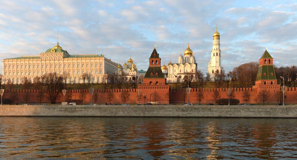 The Kremlin as seen from the Sofiiskaya Embankment.
