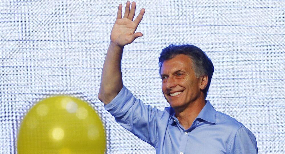 Le président argentin Mauricio Macri