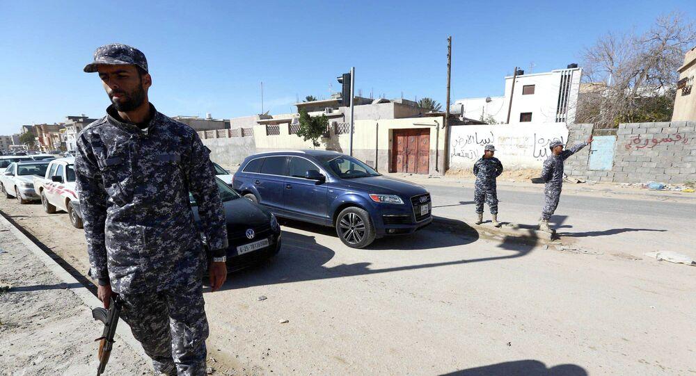 Policier libyen
