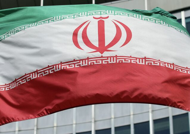 Le drapeau iranien devant le bâtiment de l'ONU