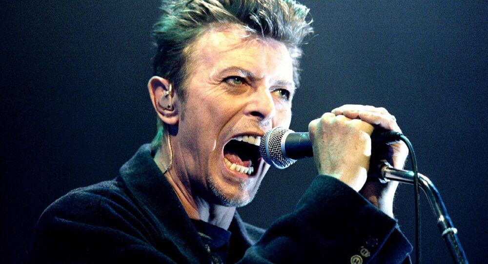 David Bowie lors d'un concert à Vienne, 1996