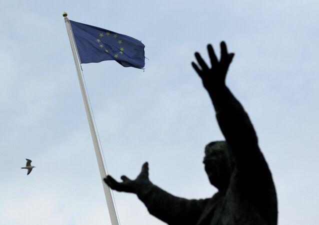 Drapeau de l'UE à Dublin