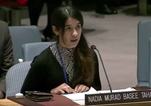 Nadia Murad Basee Taha, capture d'écran de Twitter