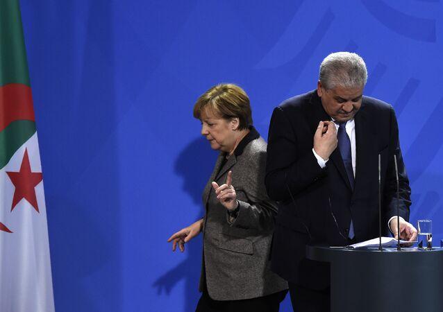 Angela Merkel et Abdelmalek Sellal