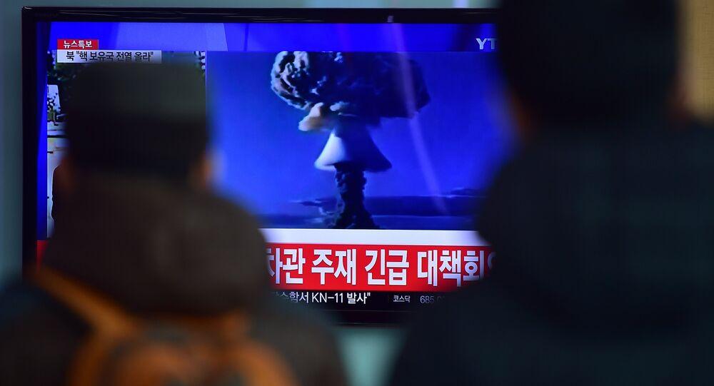 un essai d'une bombe à hydrogène, la Corée du Nord