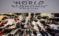 Un déjeuner lors du Forum économique mondial à Davos, en 2015