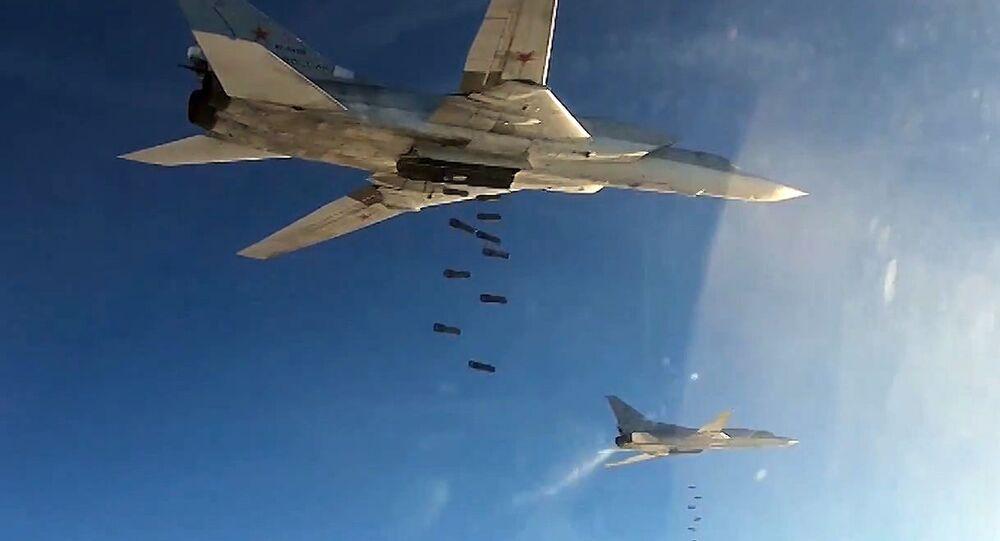 Des avions à long rayon d'action Tu-22M3 en Syrie. Archive photo