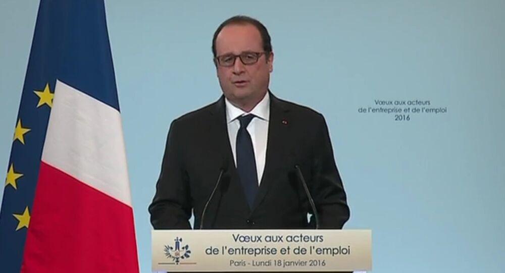 Vœux du président François Hollande aux acteurs de l'entreprise et de l'emploi