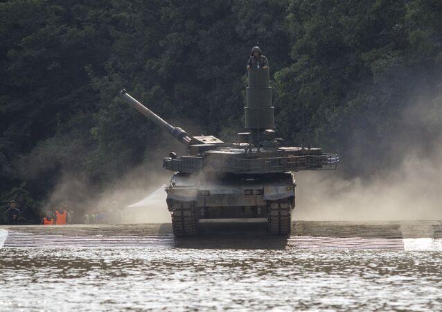 un char d'assaut K2 Black Panther