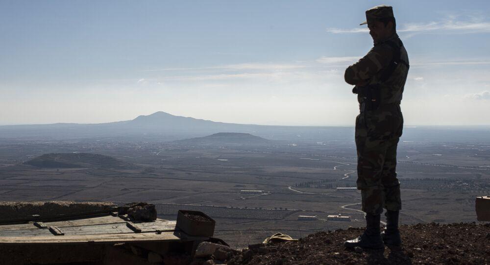 Un soldat de l'armée syrienne dans la province de Kuneitra