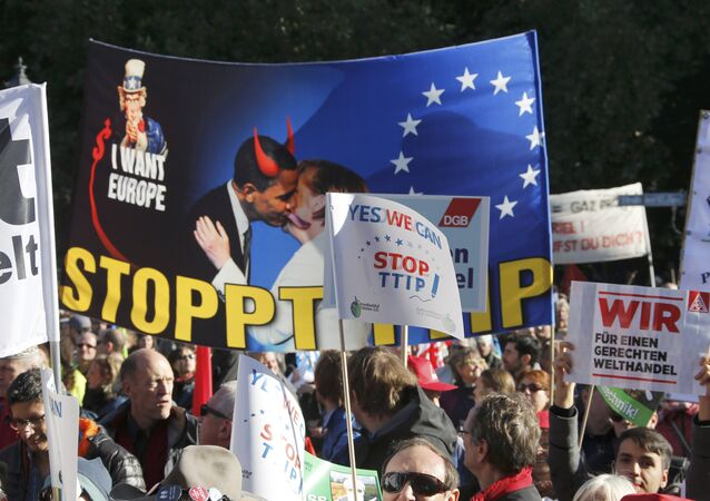 Protestations contre le TTIP