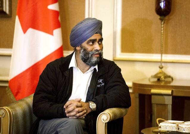 Le ministre canadien de la Défense, Harjit Sajjan