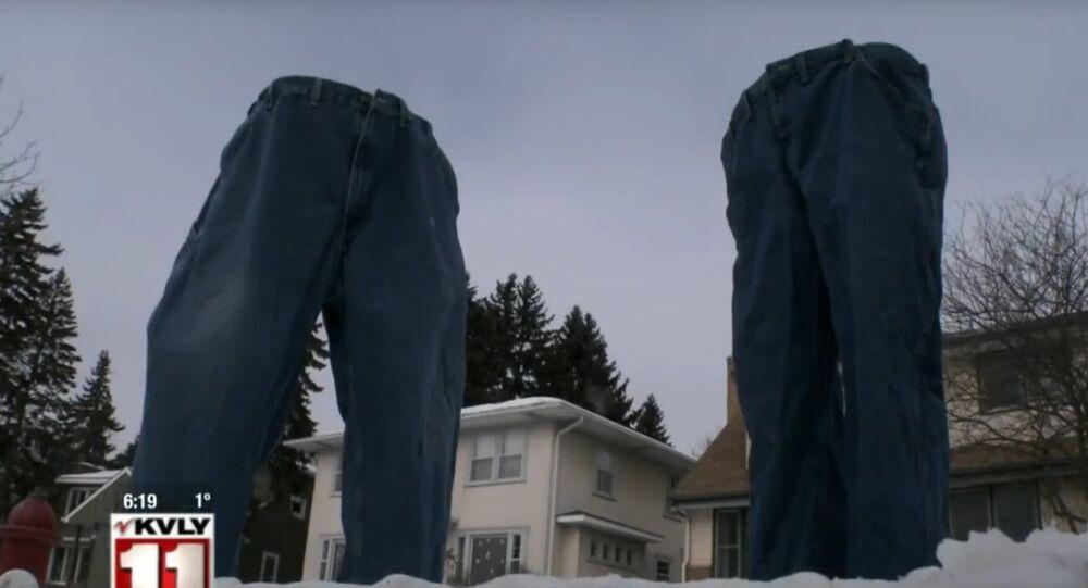 Au Minnesota, les pantalons congelés prennent vie