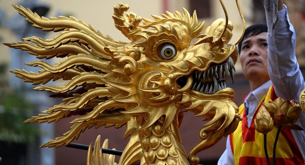 Le dragon chinois. Image d'illustration