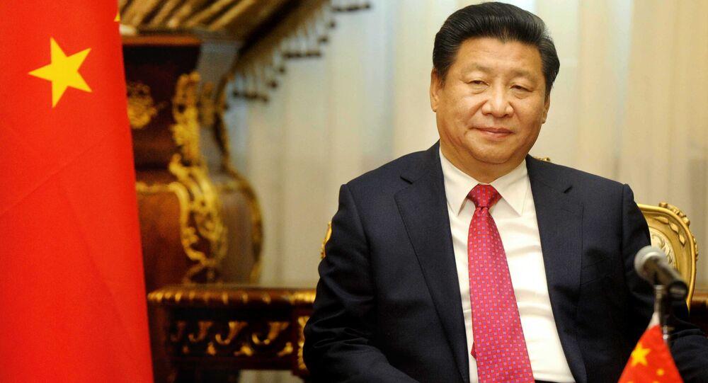 Le président chinois Xi Jinping visite le parlement au Caire, en Egypte, le jeudi 21 janvier 2016.