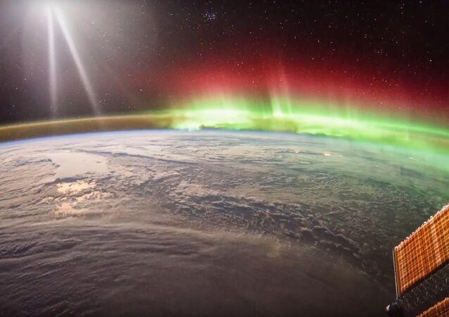 ISS Timelapse - North Pacific Aurora (20 Gennaio 2016)