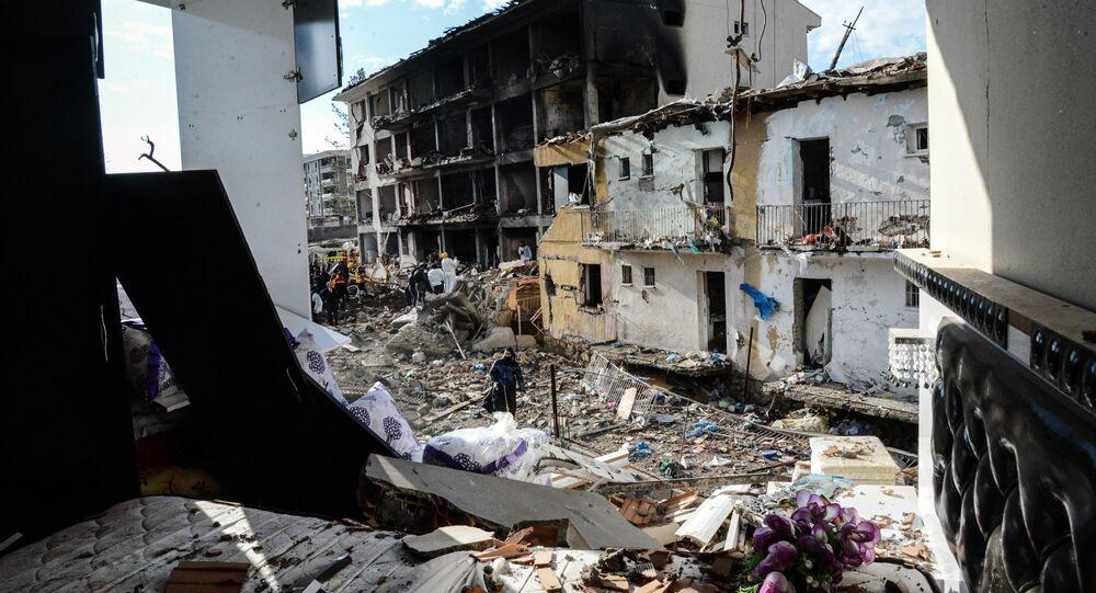 Kurdistan, bâtiments détruits
