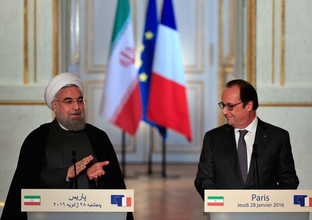 président iranien Hassan Rohani et François Hollande