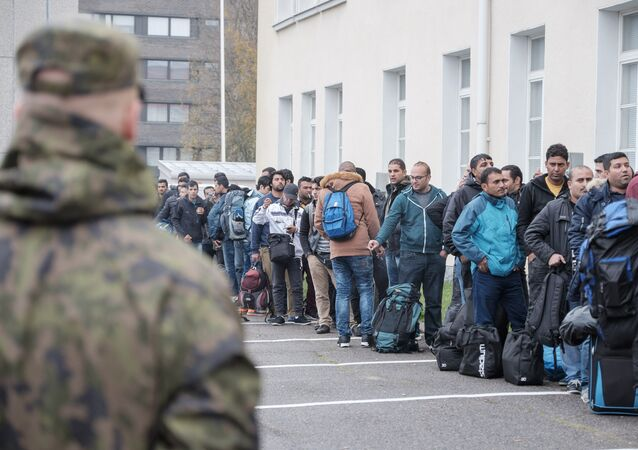Réfugiés en Finlande. Archive photo