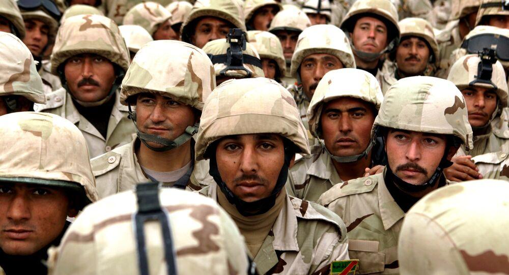 Les militaires de la 3e division des forces armées irakiennes à Mossoul