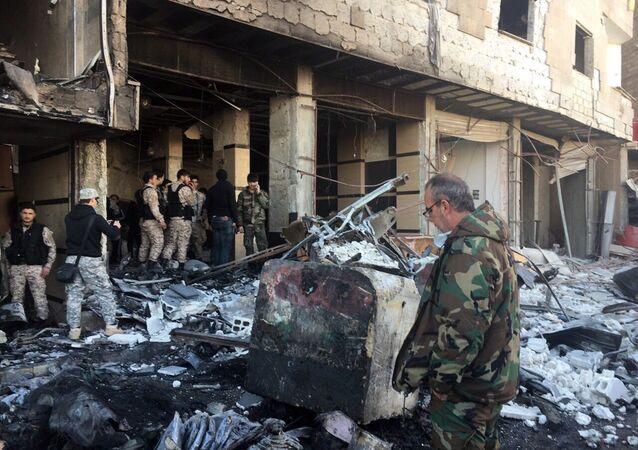 Des explosions dans un quartier chiite de Damas  (image d'illustration)