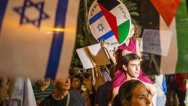 Des jeunes réclament l'ouverture des négociations de paix israélo-palestiniennes - Sputnik France