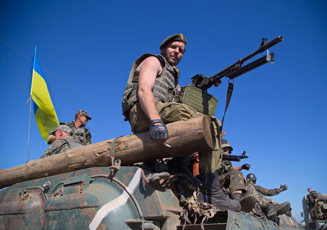 Militaires ukrainiens. Image d'illustration