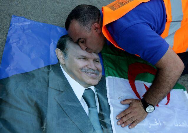 Un supporteur du Président Abdelaziz Bouteflika